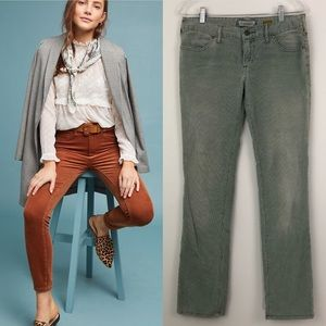 Anthro Pilcro Vintage Slim Corduroy Blue Jeans